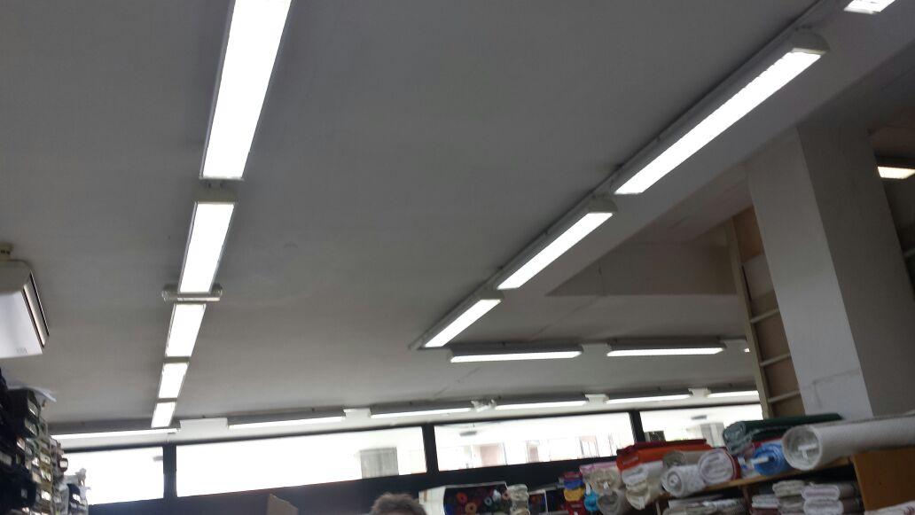 Supermercato del tessuto a padova illuminazione led e tecnologia
